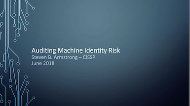 Adding Machine Identities to Your Auditing Capabilities
