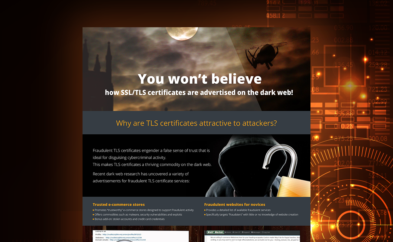 Infographic: SSL/TLS Certificates on the Dark Web