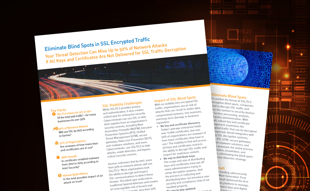 Eliminate Blind Spots in SSL Encrypted Traffic