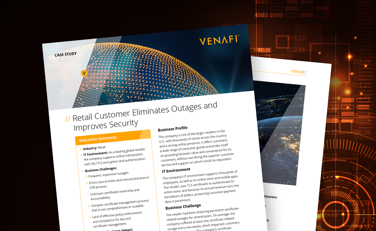 Retail Customer Eliminates Outages and Improves Security
