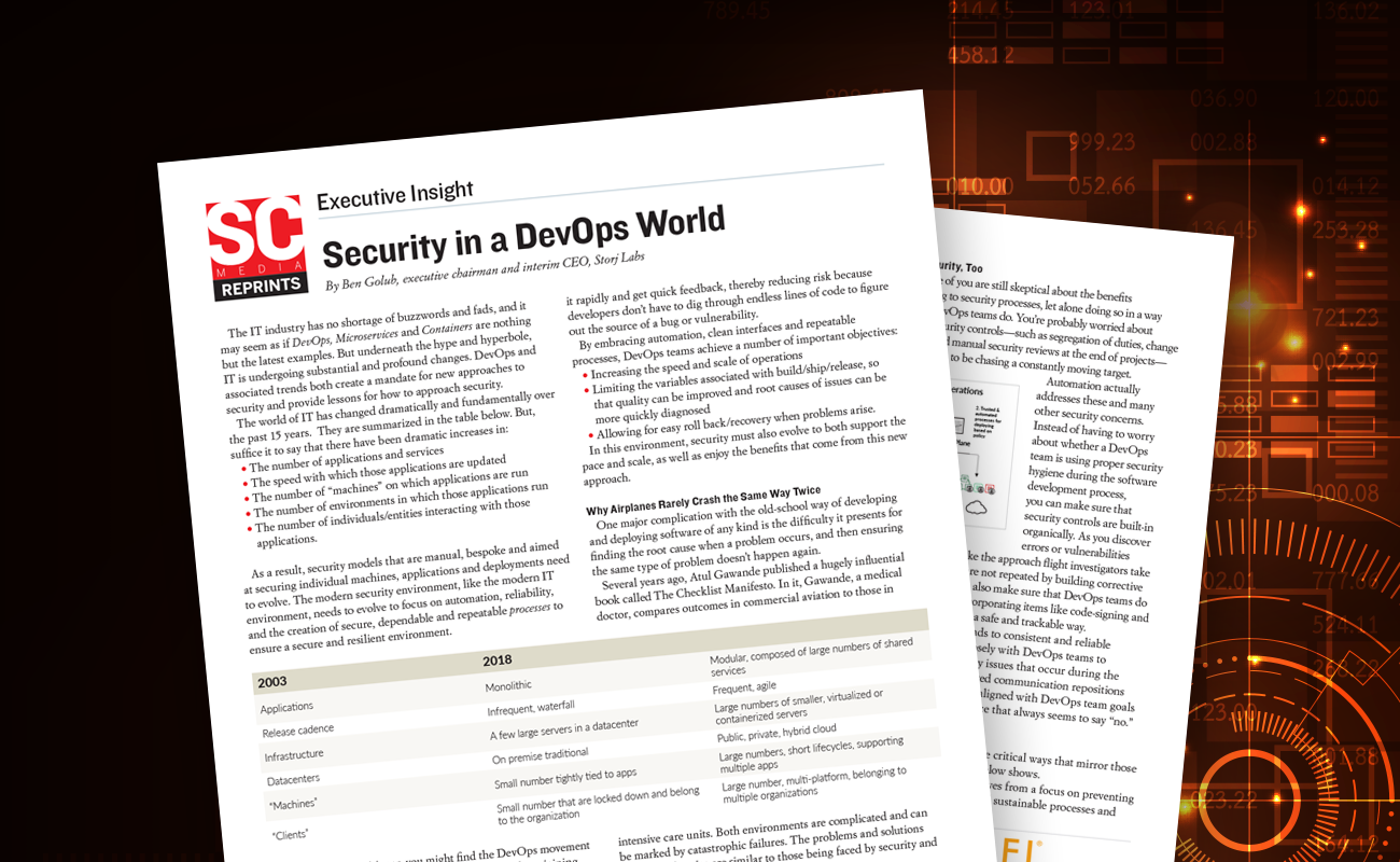 SC Magazine: Security in a DevOps World