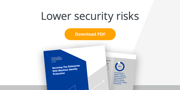 Lower security risks