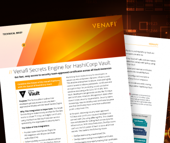 Venafi Secrets Engine for HashiCorp Vault