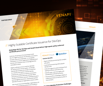 GlobalSign PKI for DevOps and Venafi Cloud