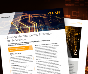 Difenda Machine Identity Protection for ServiceNow