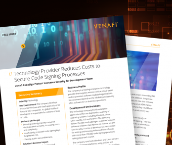 Technology Provider Reduces Costs to Secure Code Signing Processes