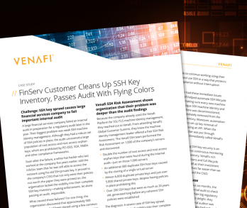 FinServ Customer SSH Key Clean Up Case Study