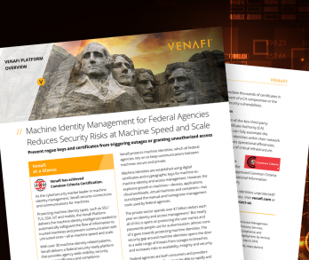 Machine Identity Management for Federal Agencies